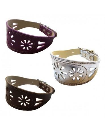 collar-galgos-flores-cuero-perros-plata-CLP52