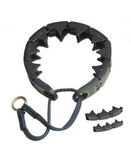Collar Triple Crown de material sintetico