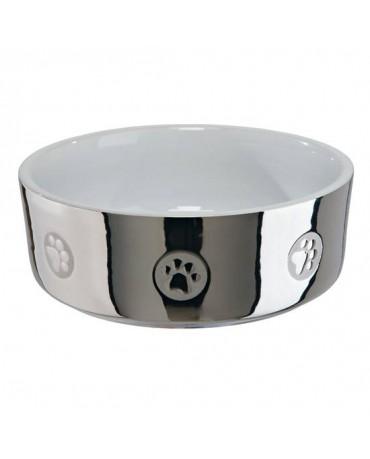 Comedero bowl plata de ceramica