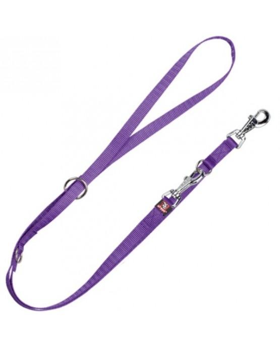Correa bandolera nylon purpura Basic para perros