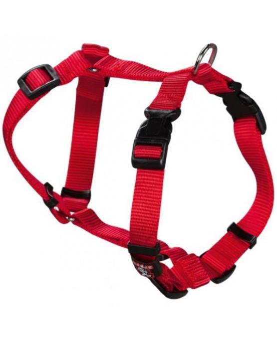 Arnes nylon Basic rojo para perros