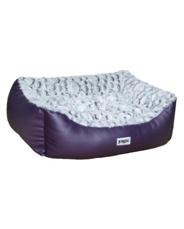 cama perros gatos acolchada purpura