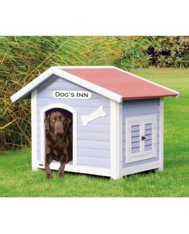 Caseta de madera Natura con porche perros y gatos