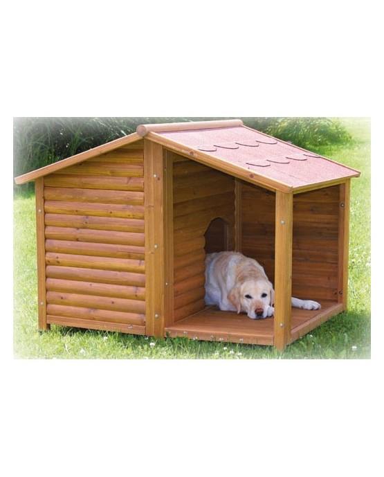 Caseta de madera Natura con terraza perros y gatos