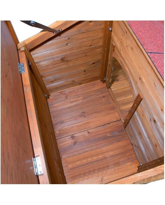 Caseta de madera Natura con terraza interior