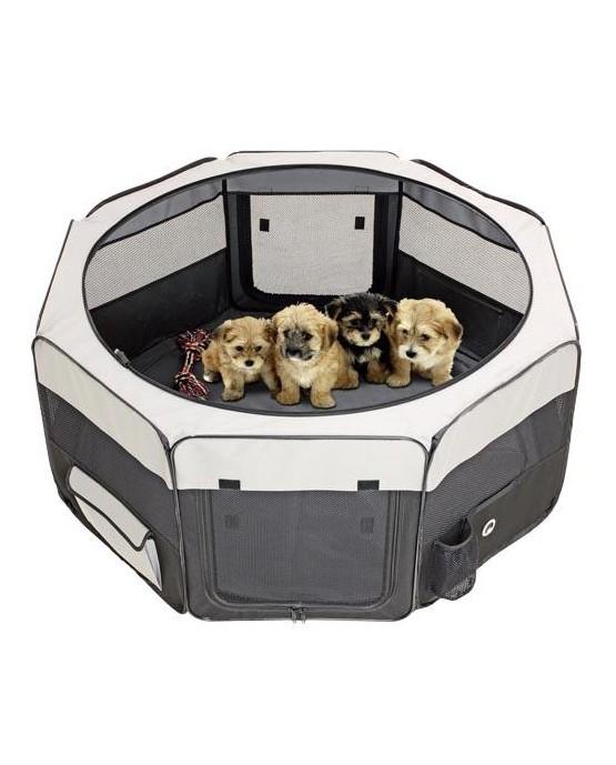 Parque plegable para perros de loneta