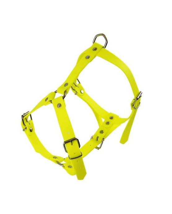 Arnes pvc poliuretano perros amarillo