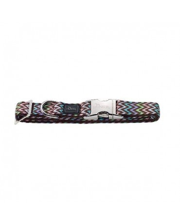 Collar nylon cierre metalico Hunter zigzag