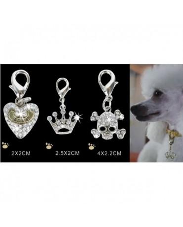 Colgante de diamantes para collar para perros