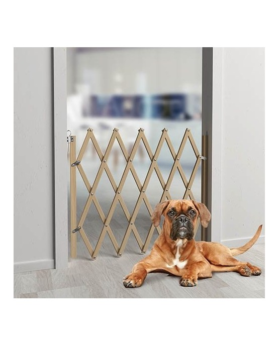 Barrera de seguridad extensible para perros mascotaland for Puerta seguridad perros