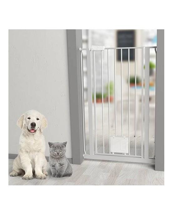 Barrera de seguridad ajustable extra grande mascotaland for Puerta seguridad perros