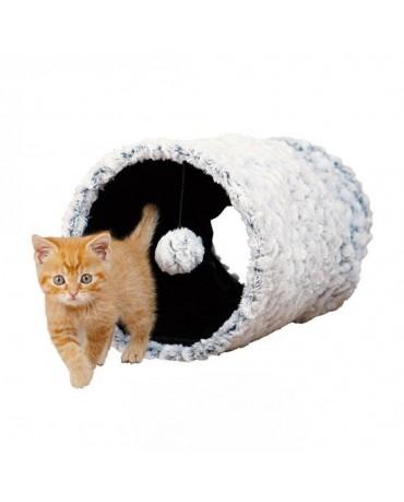 Cueva Tunel de peluche blanco y negro